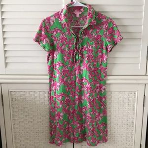 Lilly Pulitzer dress collared polo small pink